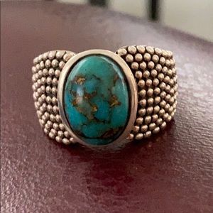 Michael Dawkins sterling and turquoise ring